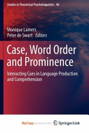 Case  Word Order and Prominence PDF