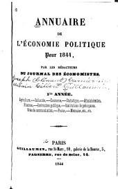 Annuaire de l'économie politique ...