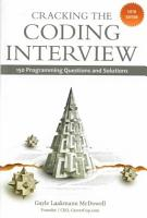 Cracking the Coding Interview  5th Edition PDF