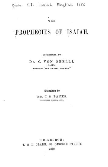 The Prophecies of Isaiah PDF