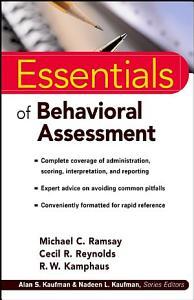 Essentials of Behavioral Assessment Book