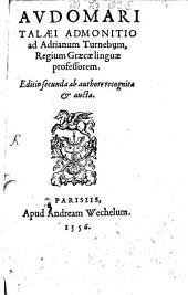 Admonitio ad Adrian Turnebum