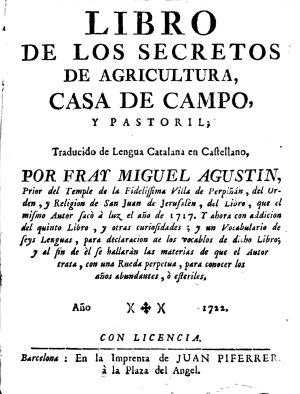 Libro de los secretos de agricultura  casa de campo y pastoril PDF