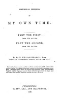 Historical Memoirs of My Own Time PDF