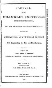 Journal of the Franklin Institute: Volume 42; Volume 72