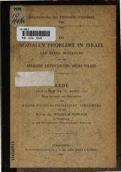 Die sozialen probleme in Israel und deren bedeutung für die religiöse entwickelung dieses volkes ...