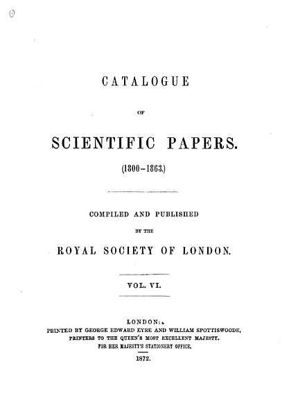 Download Catalogue of Scientific Papers Book