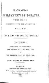HANSARD'S PARLIAMENTARY DEBATES.  THIRD SERIES:  COMMENCING WITH THE ACCESSION OF WILLIAM IV