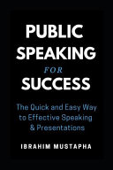 Public Speaking For Success Book PDF