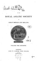 Journal of the Royal Asiatic Society PDF