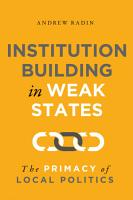 Institution Building in Weak States PDF