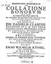 De collatione bonorum; resp. Enno Wilhelm Rüssel