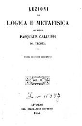 Lezioni di logica e metafisica: 2