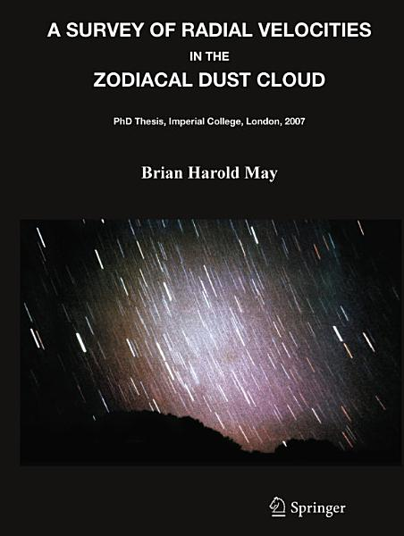 Download A Survey of Radial Velocities in the Zodiacal Dust Cloud Book