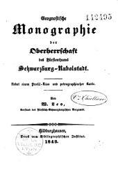 Geognostische Monographie der Oberherrschaft des Fürstenthums Schwarzburg-Rudolstadt: nebst einem Profil-Riss und petrographischer Karte
