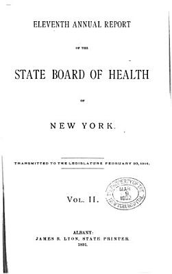 Annual report of the State Department of Health of New York  1891 pt 2 PDF
