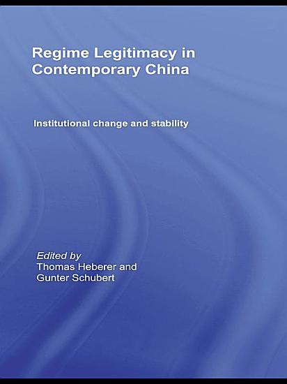 Regime Legitimacy in Contemporary China PDF