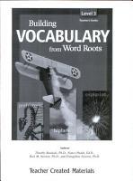 Building Vocabulary  Grade 3  Kit eBook PDF