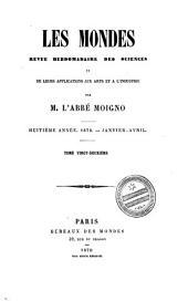 Les Mondes: revue hebdomadaire des sciences et leurs applications aux arts et à l'industrie, Volume22