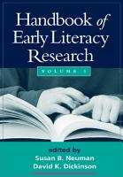 Handbook of Early Literacy Research PDF