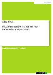 Praktikumsbericht SP3 für das Fach Italienisch am Gymnasium