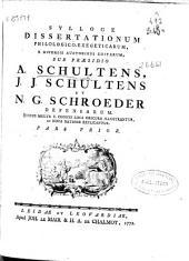 Sylloge dissertationum philologico-exegeticarum a diversis auctoribus editarum