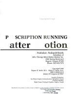 Mind, Matter, Motion--prescription Running