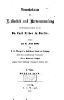 Auktionskatalog  B  cher von Carl Ritter      et al    6  Mai bis 16  Oktober 1861 PDF