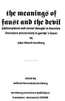 The Meanings of Faust and the Devil PDF