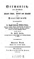 Germanien  eine Zeitschrift f  r Staats Recht  Politik und Statistik von Deutschland  herausgegeben von Dr  August Friederich Wilhelm Crome     und von Dr  Karl Jaup PDF