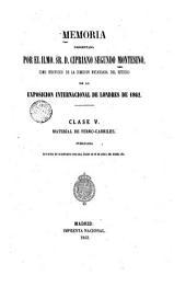 Memoria... estudio de la Expedición internacional de Londres de 1862: clase 5, ferrocarriles