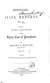 Pennsylvania State Reports: Volume 40