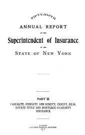 Annual Report of the Superintendent of Insurance: Volume 59, Part 3