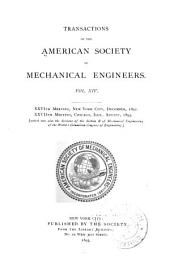 Transactions of the American Society of Mechanical Engineers: Volume 14