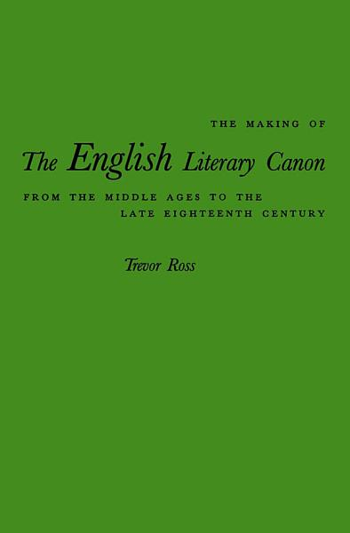 Making of the English Literary Canon