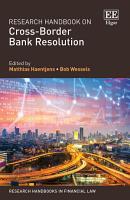 Research Handbook on Cross Border Bank Resolution PDF