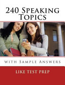 240 Speaking Topics PDF