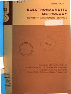 Electromagnetic Metrology PDF