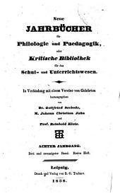 Neue Jahrbücher für Philologie und Paedagogik: Band 23