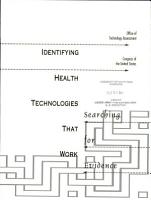 Identifying Health Technologies that Work PDF