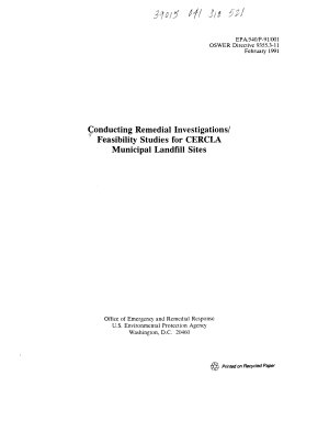 Conducting Remedial Investigations feasibility Studies for CERCLA Municipal Landfill Sites PDF