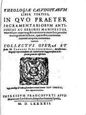 Theologiae Calvinistarum Liber Tertius
