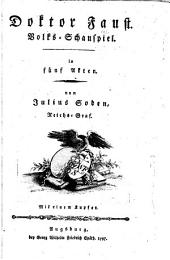 Doktor Faust: Volks-Schauspiel