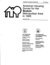 Current Housing Reports: American housing survey for the Boston metropolitan area in ...