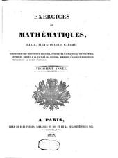 Exercices de mathématiques: Volume3
