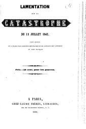 Lamentation sur la catastrophe du 13 juillet 1842