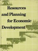 Resources and Planning for Economic Development PDF