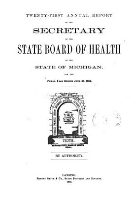 Annual report of the Commissioner of the Michigan Department of Health for the fiscal year ending     1893 PDF