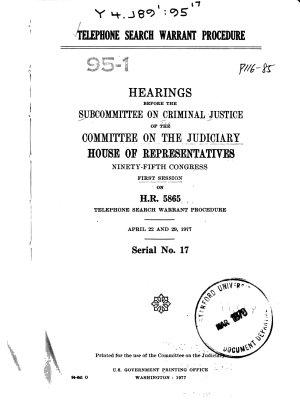 Telephone Search Warrant Procedure PDF