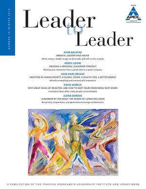 Leader to Leader  LTL   Volume 75  Winter 2015